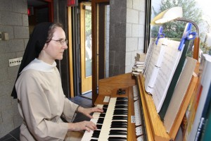 Sr. Anne playing the organ