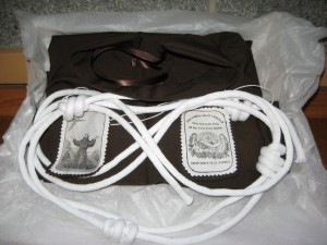 SFO Shroud, cord and scapular to be mailed out