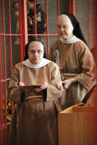 Sr. Mary Francis and Sr. Evelyn with the Gifts